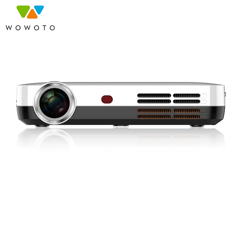 Projecteur WOWOTO 4 K résolution Android Wi-Fi Bluetooth projecteur 700 Ansi LED Portable HD projecteur pour Home Cinema H10