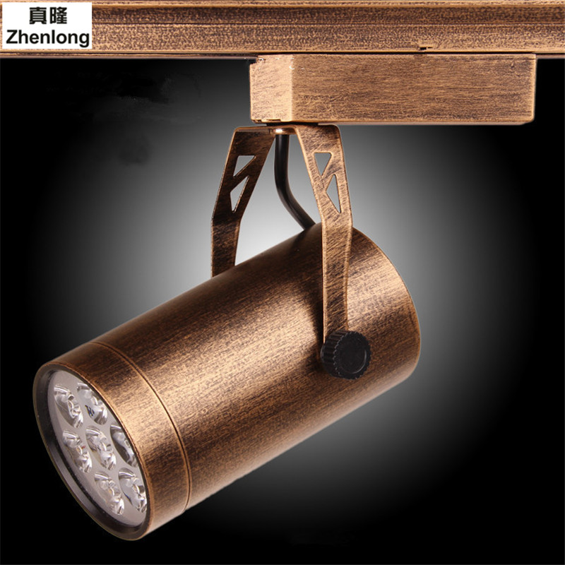 Retro Spotlights Downlight COB Antique Copper Clothing Store Lighting Dedicated Track Lights Nostalgic Bar European Down Lamp led cob track lights clothing store