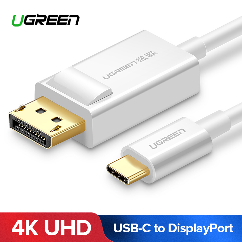 Ugreen USB C to DisplayPort Cable USB 3.1 Type C DP Thunderbolt 3 Adapter for Samsung Galaxy S9/S8 Huawei Mate 10 Pro USB-C DP universal usb c to displayport adapter usb 3 1 type c to dp adapter converter support 4k uhd 1080p for macbook pro
