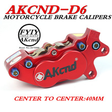 AKCND Universal CNC Motorcycle 40mm Brake Calipers For yamaha vespa gts msx125 bws smax pcx nmax moto Racing Dirt bike Scooter