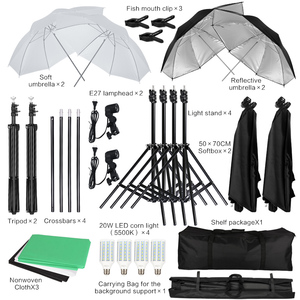 Image 3 - 2M X 3M Achtergrond Support System Softbox Paraplu Kit Voor Foto Studio Product, portret En Video Shoot Fotografie Lichten