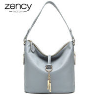 Fashion Gelance Metal Tassel First Layer Of Cowhide Genuine Leather Women S Handbag Laptop Messenger Bag