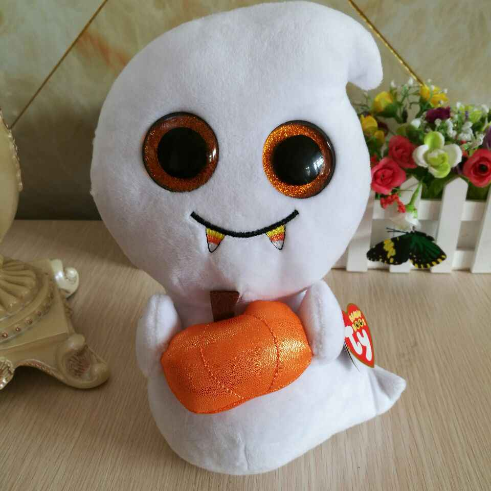 Scream ghost with tag label TY BEANIE BOOS 1PC 25CM BIG EYES Plush Toys  Stuffed animals f82be5a58e04