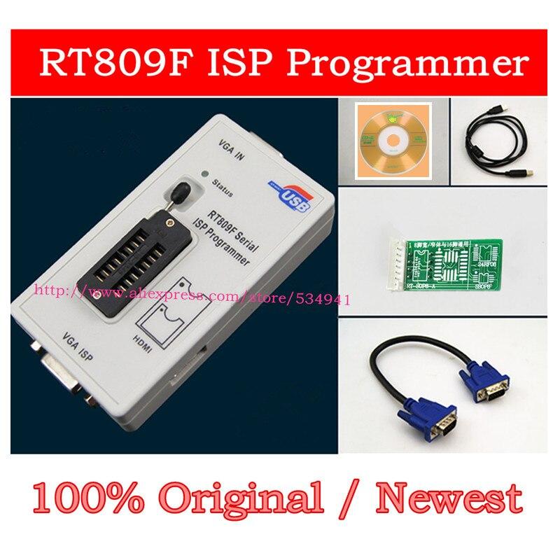 Free Shipping 100% Original Newest RT809F ISP Programmer/ RT809 Lcd Usb  Programmer Repair Tools 24-25-93 Serise IC