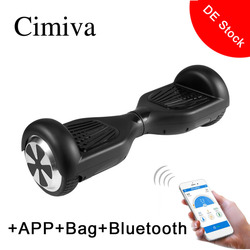 Cimiva 6.5 Inch Two Wheels Smart Electronic Scooter 350W Skate Board Hoverboard with Bag Support APP Bluetooth Max Load 120KG
