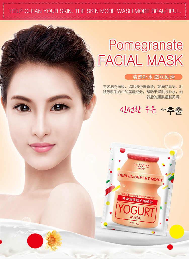 1 pièces Masque Facial De Soins De La Peau Acide Hyaluronique Hydratant contrôle de L'huile Pour Le Visage Blanchissant Soins Point Noir Supprimer Masque