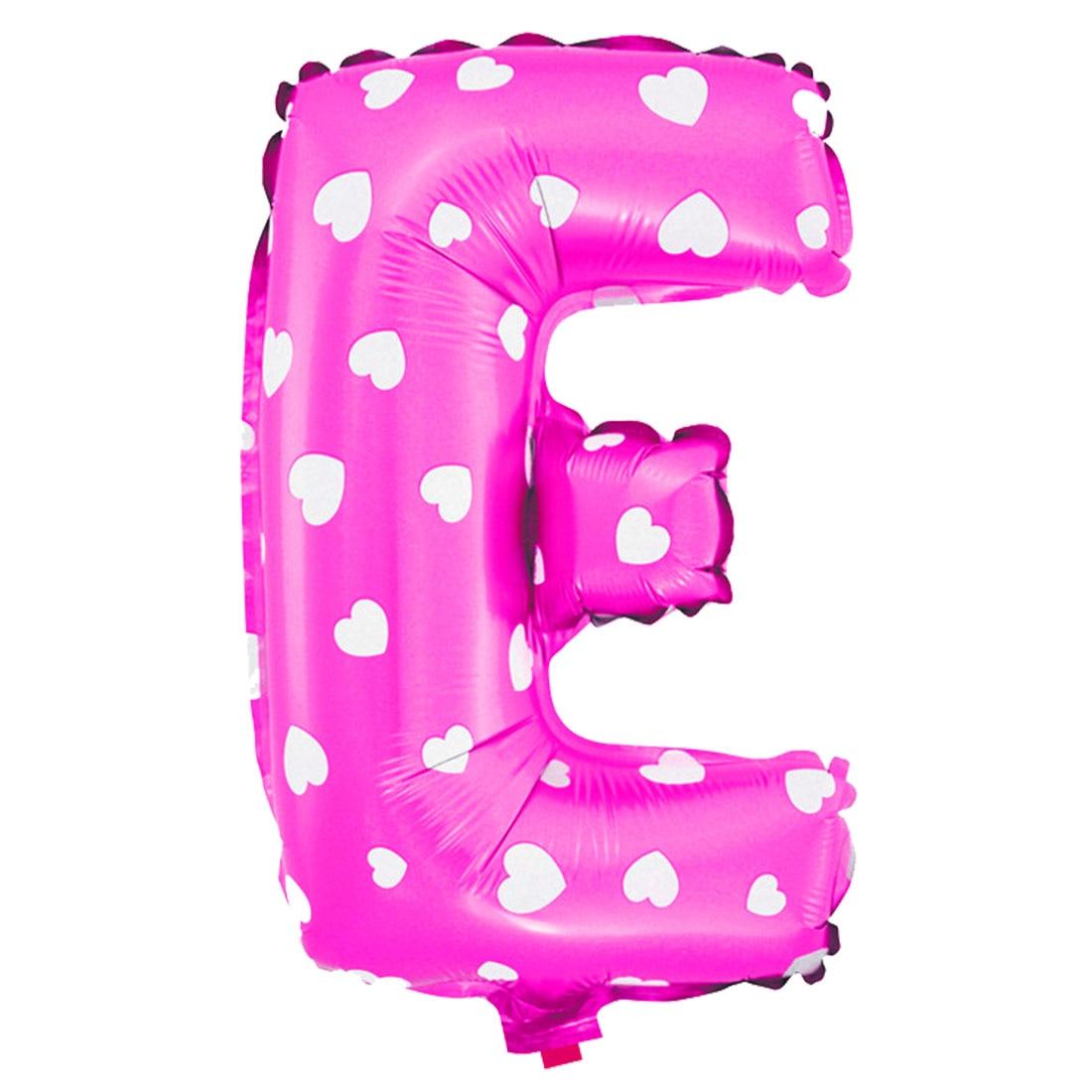 UXCELL Foil Letter E Heart Pattern Helium Balloon Birthday Wedding ...