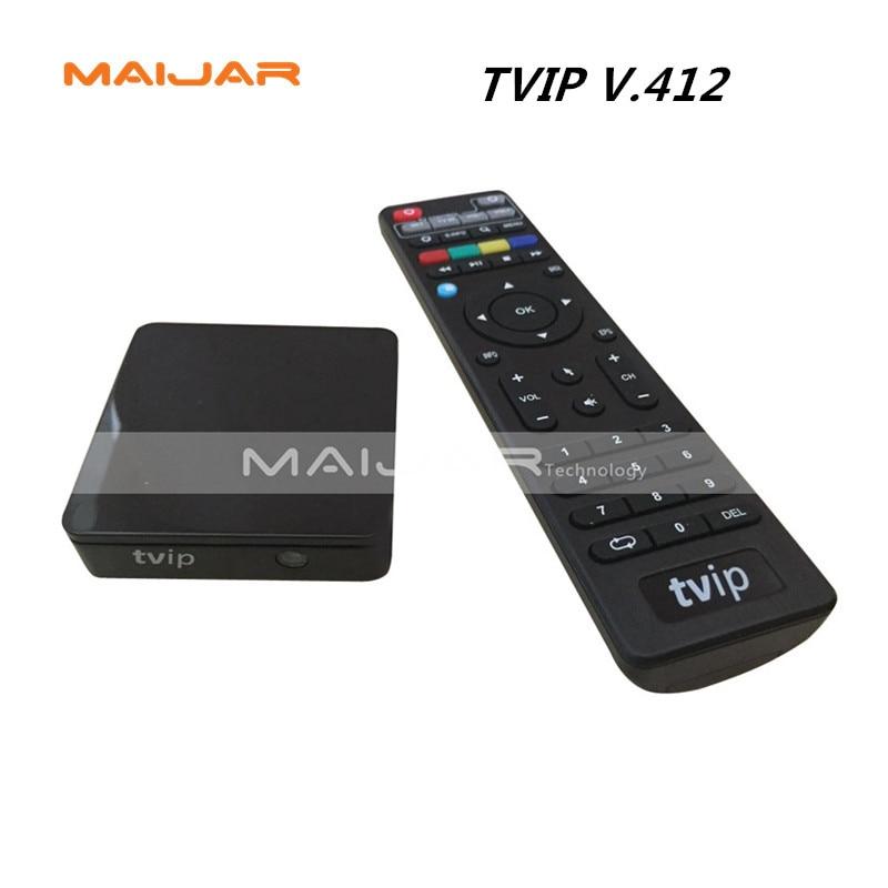 ФОТО 20pc Linux TV BOX Or Android TV BOX TVIP V412 Amlogic S805 Quad Core Russian Original MiNi IPTV Media Player better Than Mag250