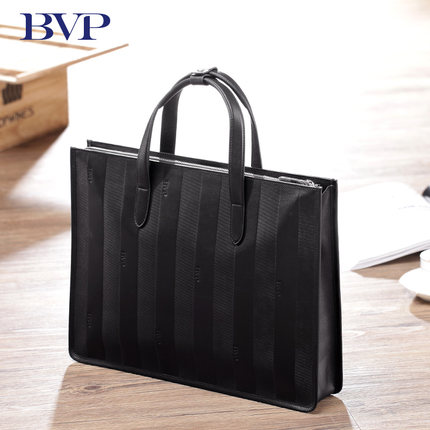 BVP - High-end Full Grain Calfskin Laptop Bag Businessman Leather Men's Briefcases Handbag 15 tote leather bag aktentasche J30 bvp high end 100
