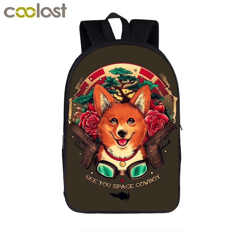 Us 17 16 40 Off Anime Stray Dog Strut Backpack Cowboy Bebop Bag Age Boys S School Bags Women Men Casual Kids Students Book In