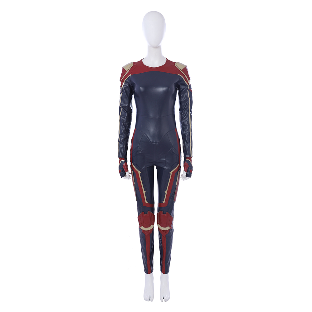2019 Carol Danvers Captain Marvel Costume Halloween Costume Captain Marvel Jumpsuit Cosplay Captain Marvel Suit Custom Made in Movie TV costumes from Novelty Special Use