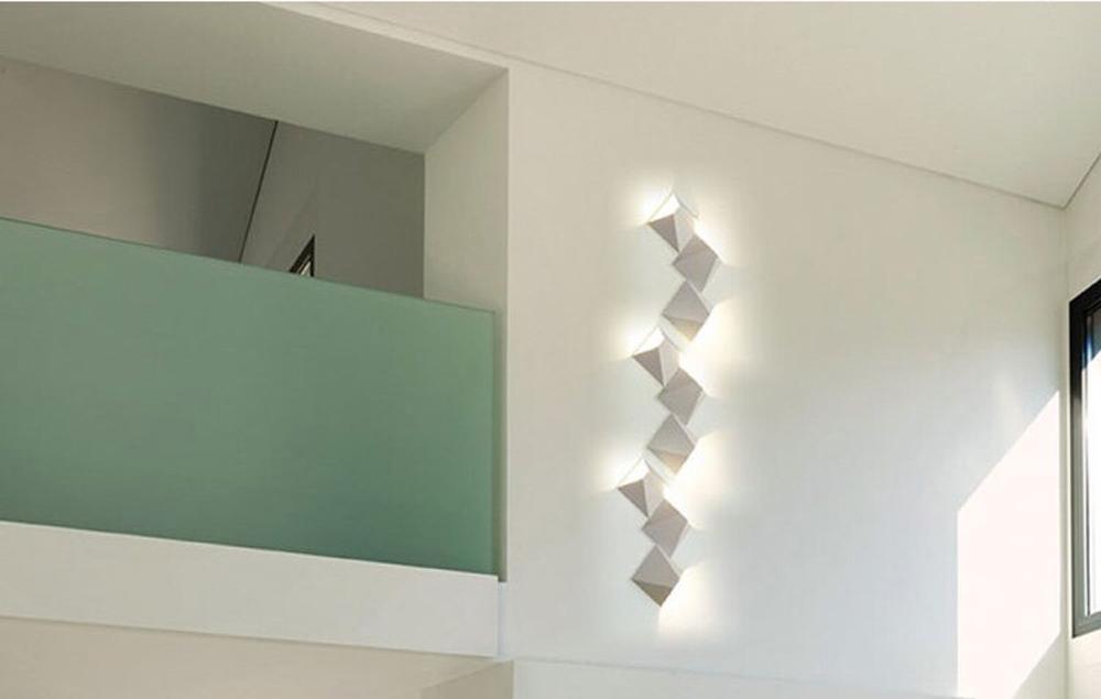 HTB1 P.5hHsTMeJjy1zcq6xAgXXaX - LED Modern Geometric Iron Acryl Black White DIY Magic Box LED Lamp LED Light Wall lamp Wall Light Wall Sconce For Store Bedroom