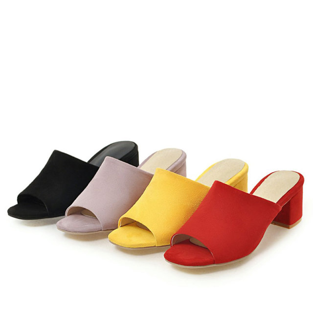 Women Pointed Toe Half Heel Mules