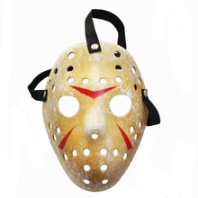 1pcs/lot Black Friday NO.13 Jason Voorhees Freddy Hockey Festival Party Halloween Masquerade Mask beier stainless steel biker jason voorhees hockey halloween mask pendant necklace with red colour antique cool jewelry bp8 362