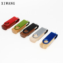XIWANG Rotary Wood USB Flash Drive Pendrive Memory Stick Driver 2.0 4GB 8GB 16GB 32GB 64GB Laptop Flash Memory Card Memory Stick