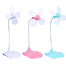 New Portable Mini Adjustment Touch Control Desktop Rechargeable Fan USB Gadgets with White USB Cable