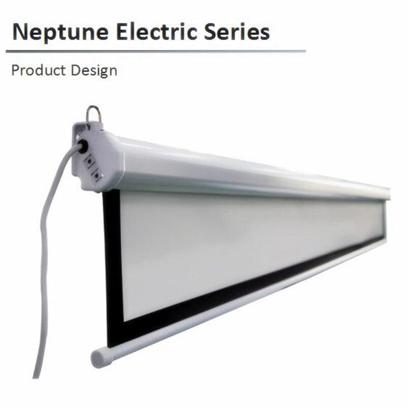 N1HK 16: 9 HDTV, 84 92 100 110 120 135 pouces écran de projection de projecteur rétractable électrique, matériau avec blanc mat K