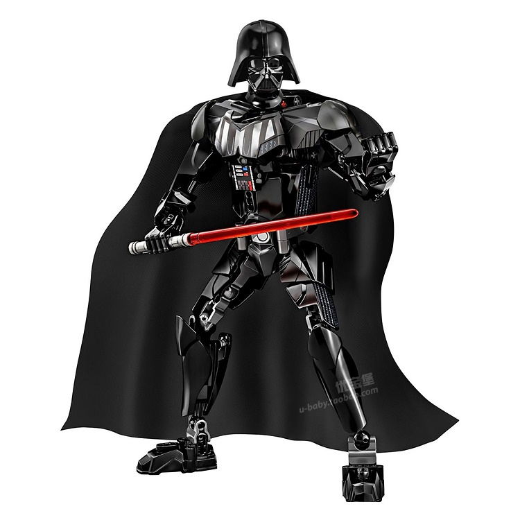 22cm Star Wars Darth Vader with Lightsaber Black Cape Building Blocks minifig Action Figure Education Kids Toys Gifts star wars the black series darth vader stormtrooper lightsaber pvc action figure brinquedos figuras anime collectible kids toys