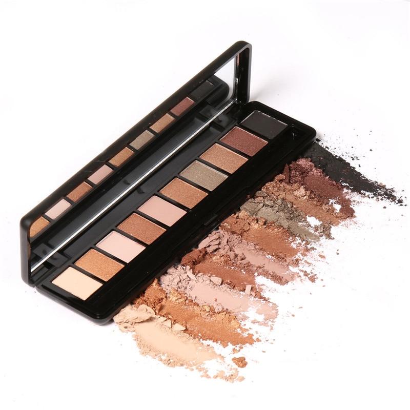 FOCALLURE Earth Colored Pearl Matte Light Warm Smoke Color 10 Color Eye Shadow Waterproof Makeup Nude