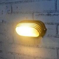 Europe Brief Indoor Outdoor Wall Lamp Moistureproof Bathroom Wall Mounted Lamp Modern Balcony Rustic Led Wall