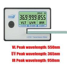 LS162 измеритель затенённости окна солнечной пленки передачи метр, УФ ИК mete снят стеклянный тестер, VLT измеритель пропускания, стекло пленка тестер
