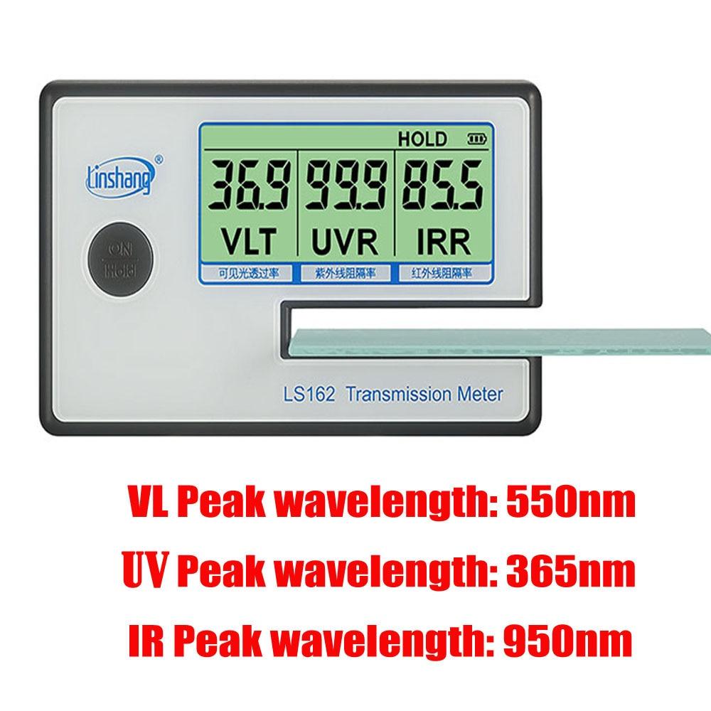 LS162 compteur de teinte de fenêtre compteur de Transmission de Film solaire, testeur de verre filmé UV IR mete, compteur de transmittance VLT, testeur de film de verre