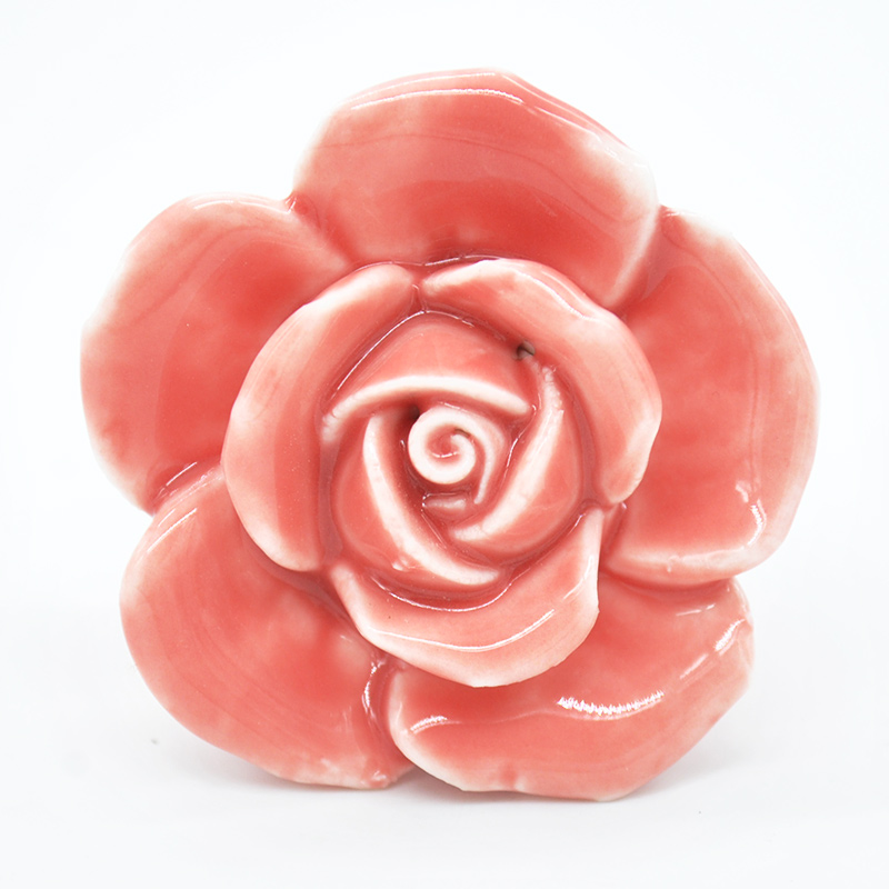 5 Colors Rose Flower Handles Cabinet Ceramic Knobs Flowers Kitchen Handles Dresser Closet Kids Bedroom Furniture new cartoon ceramic cabinet drawer knob kids wardrobe handle kitchen furniture flower closet handles children dresser pulls