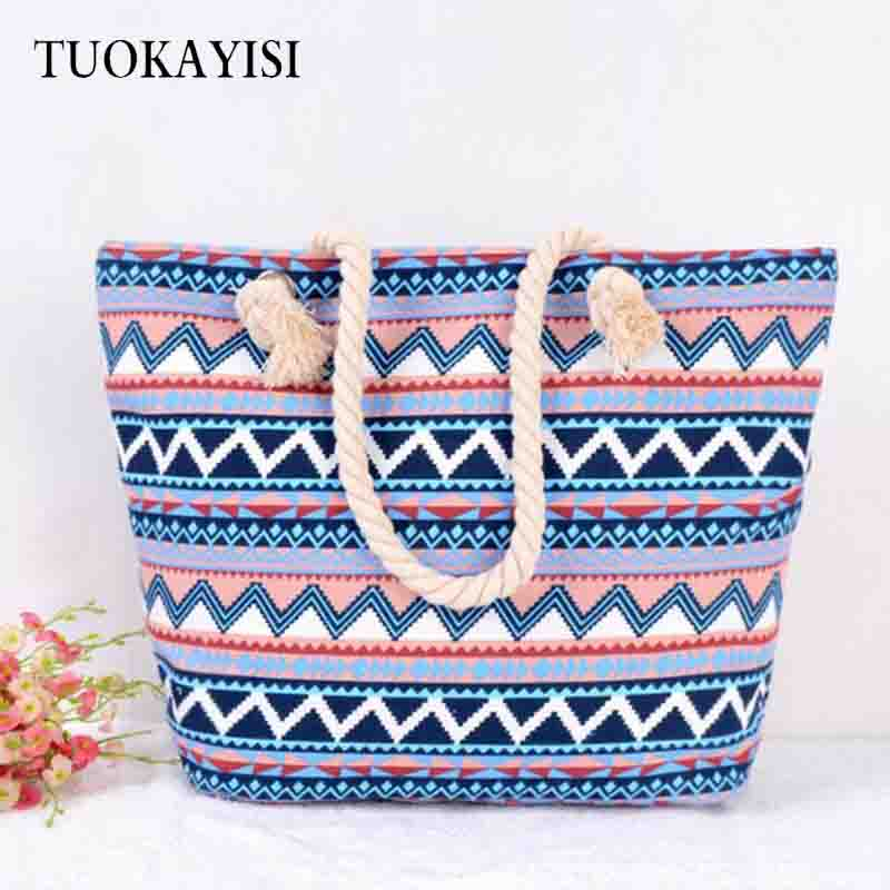 Fashion lady large Canvas shopping bag zipper Reusable Eco Shoulder Bag Women Tote Letter Package Folding bags floral handbags aosbos fashion portable insulated canvas lunch bag thermal food picnic lunch bags for women kids men cooler lunch box bag tote