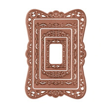 Buy YaMinSanNiO New 2019 Frame Craft Dies Metal Cutting Lace Border Scrapbooking Card Making Rectangle Stencil Die Cuts DIY directly from merchant!