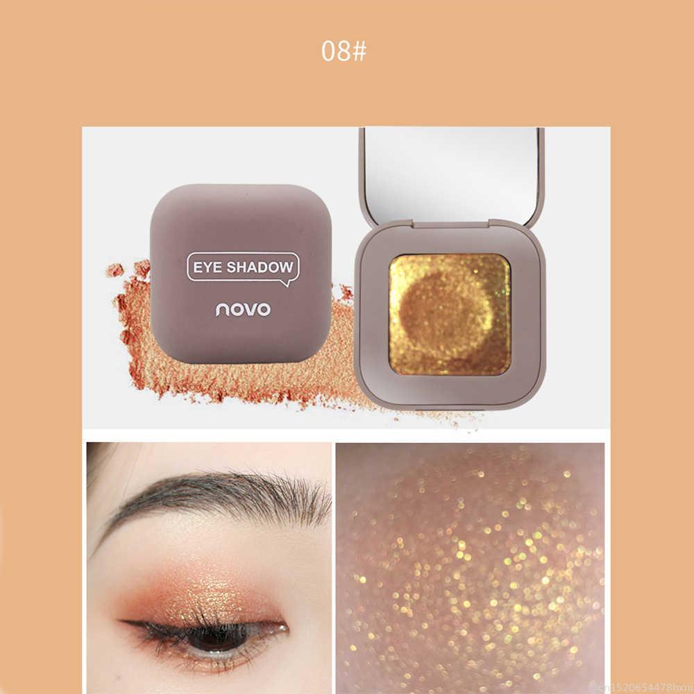 2019 nouveau 10 couleur crème Texture unique haute brillance ombre à paupières imperméable brillant Monochrome miroitant perle Pigment outil de maquillage des yeux