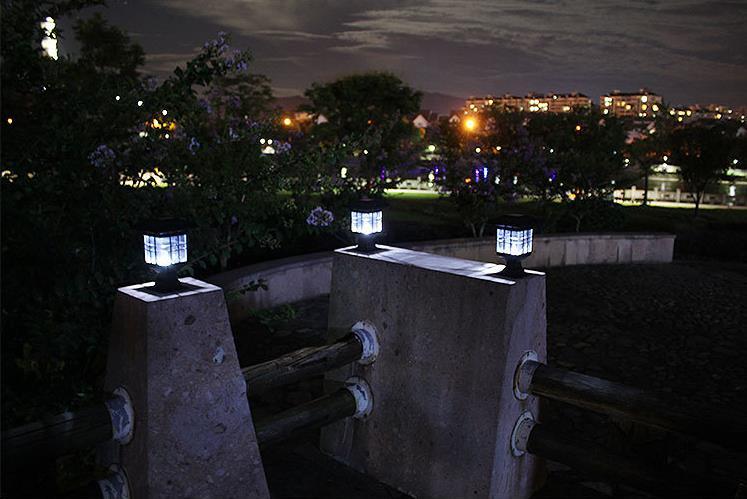 Nova chegada solar pilar lâmpada ao ar