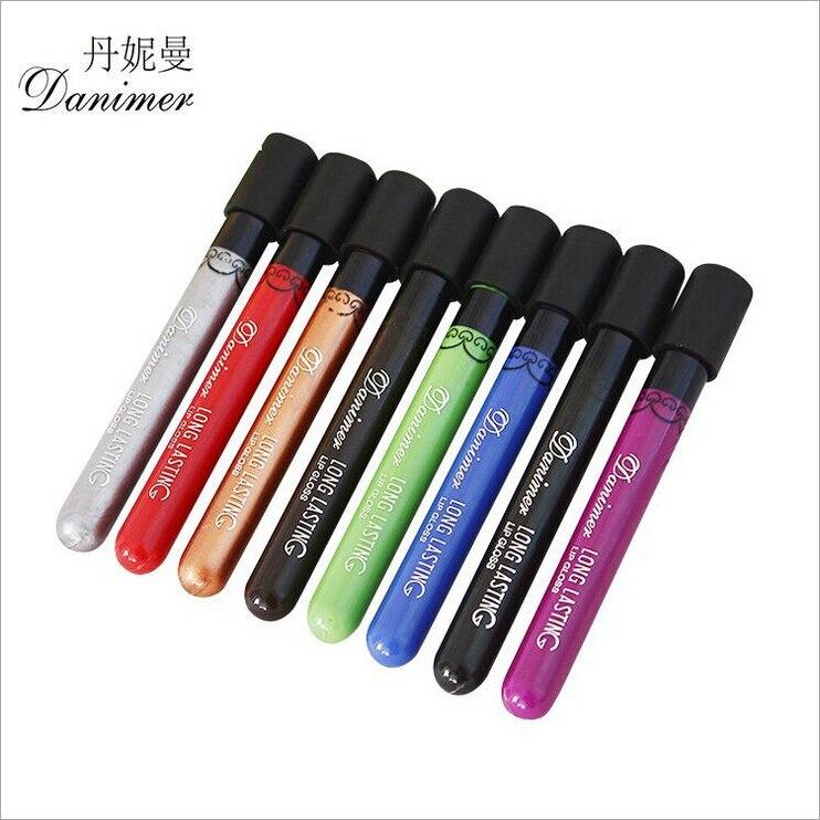 8 Colors Labiales Matte Liquid Lipstick Long Lasting Batom Makeup Brand Rouge A Levre Dark Green Red Silver Gold Lip Stick