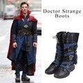 Ботинки для косплея «Доктор Стрэндж»; Обувь для косплея Стивена Винсента; Обувь для взрослых мужчин; Высокие сапоги супергероя; Аксессуары ...