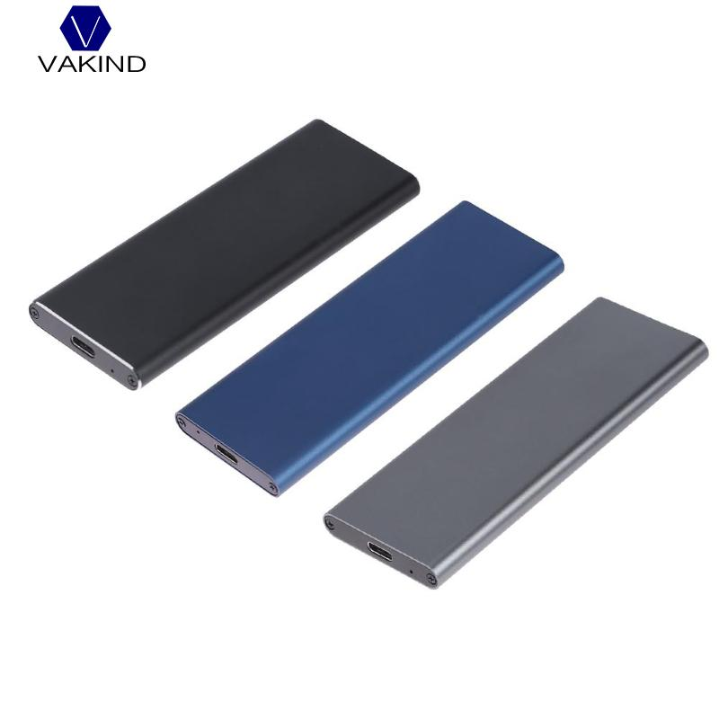 VAKIND 1pcs M.2 NGFF SATA SSD 10Gbps to USB 3.1 Type-C Converter Adapter Enclosure Case For M2 Hard Drive PC