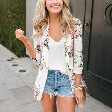 fashion floral print women jackets coat 2018 spring autumn female long sleeve outwear jacket ladies tops macacao feminina