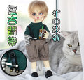 1/6, YOSD BJD SD Doll  clothes grid overalls  for BJD SD DOLL