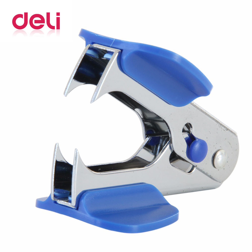 Deli 1pcs Metal Staple NO12 Office Finance Nail Puller Remover Mini Efficient Labor-saving Good Quality Standard Stapler 0231