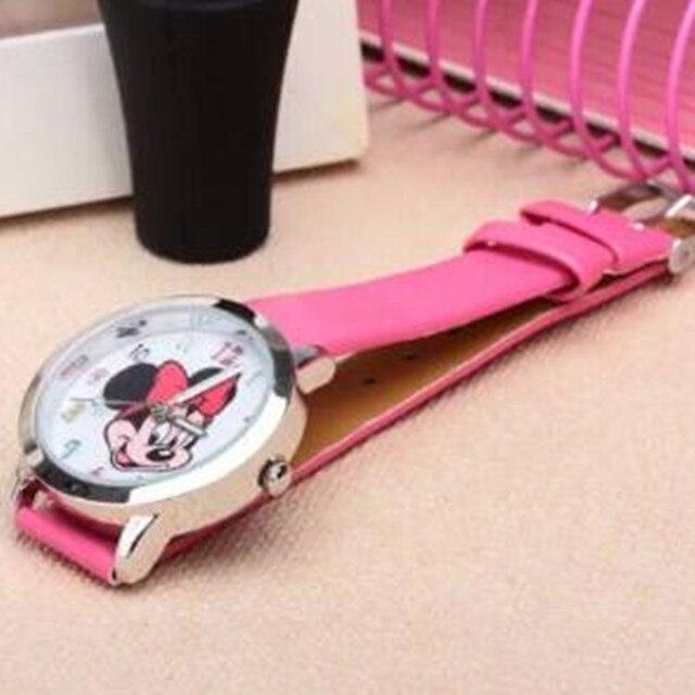 8 candy colors fashion Colorful watch girls children cartoon Clock Mickey Cute w