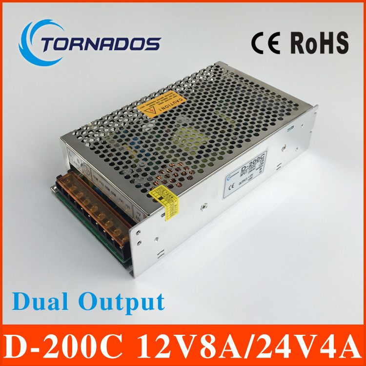 D-200C high quality dual output power supply 200w 12V8A 24V4A power suply ac dc converter 12V 24V pcf8591 8 bit a d d a converter module