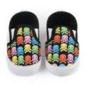 TongYouYuan Print Skull Pattern Newborn Fashion Canvas Infant Toddler Boys Girls Kids Very Light Casual Soft Soled Loafers Shoe