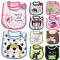 Pure Cotton Baby Bibs Infant embroidered saliva towels Burp Cloths funny Carton Baby Waterproof bib wear for Kids