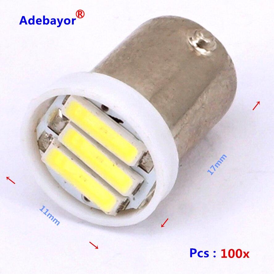 ̀ •́ 100x Ba9S 3smd 7014 h6w t4w T11 alta potencia 1 W indicador del ...