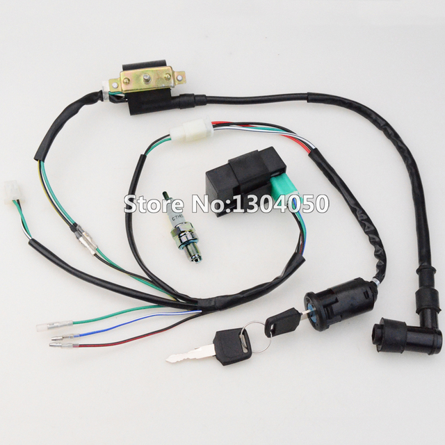50cc 70cc 90cc 110cc 125cc cdi ignition coil c7hsa spark plug wire rh aliexpress com Round Bezel Wiring Harness Plugs Car Wiring Harness
