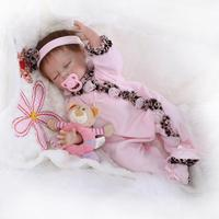 52cm Baby Doll Reborn Soft Silicone Babies Toys Sleeping Dolls Brinquedos Christmas Birthday Gift Movie Photography Props
