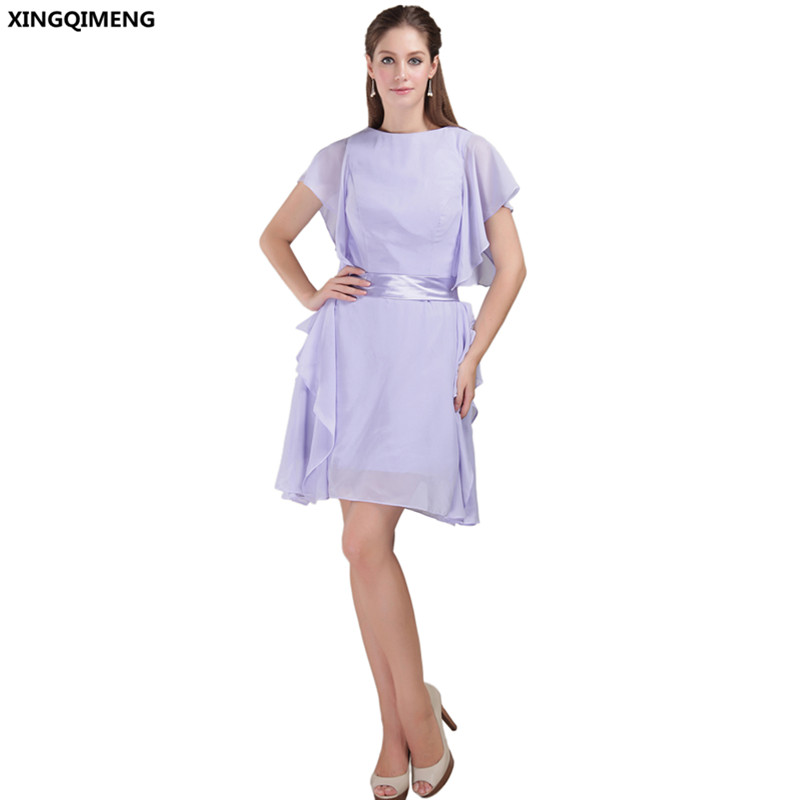 Light Purple Mini Cocktail Dresses Elegant Cheap Simple Cocktail