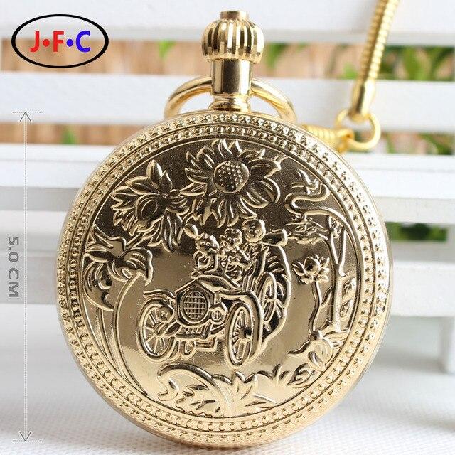 Золото медь ретро подсолнечника семейный автомобиль весной ретро моды механические часы звезды Турбийон стол T024