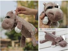 Super cute 1pc 25cm forest big eyes hippo plush school lovely bag toy children gift