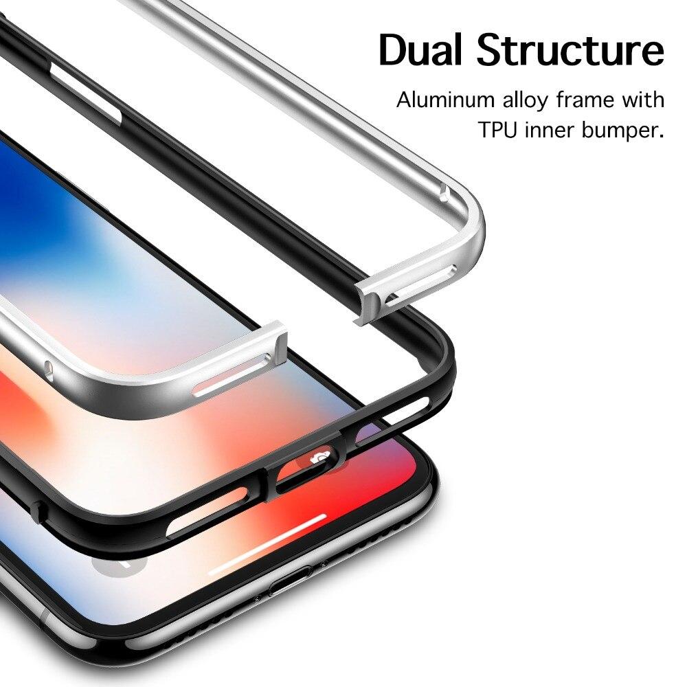 Para iphone 5,8 pulgadas, ESR Metal Ultra fino marco de aleación de ...