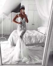 Новинка сексуальные кружевные свадебные платья с юбкой годе