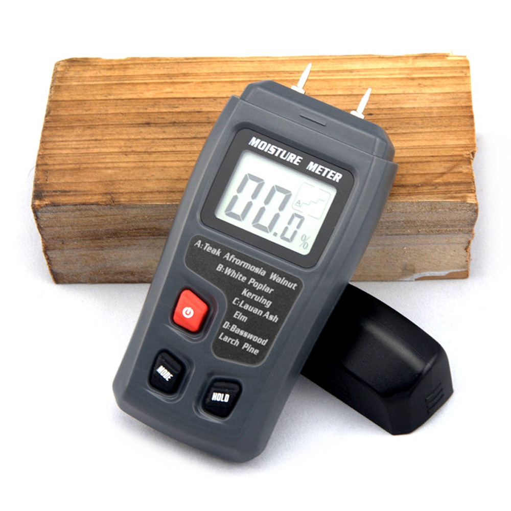 BSIDE EMT01 0-99.9%Two Pins Digital Wood Moisture Meter Humidity Tester Timber Damp Detector 0.5 percent Accuracy Moisture Meter high precision digital electric moisture meter wood timber plank humidity moisture content tester gauge with 11mm probe vc2ga